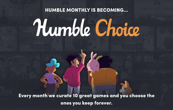 """Humble Monthly меняет название. Сделайте правильный """"Choice""""."""