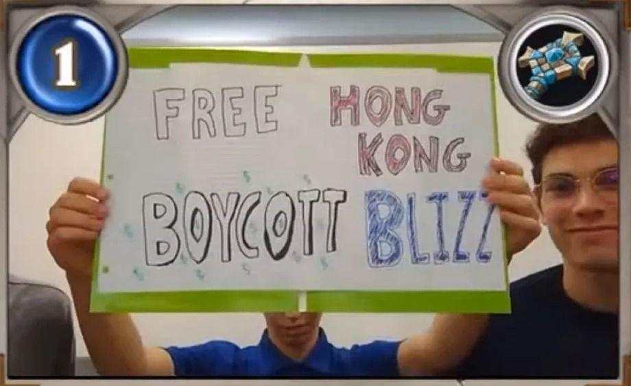 Blizzard забанила целую команду по Hearthstone из-за их высказывания в поддержку протестов в Китае.