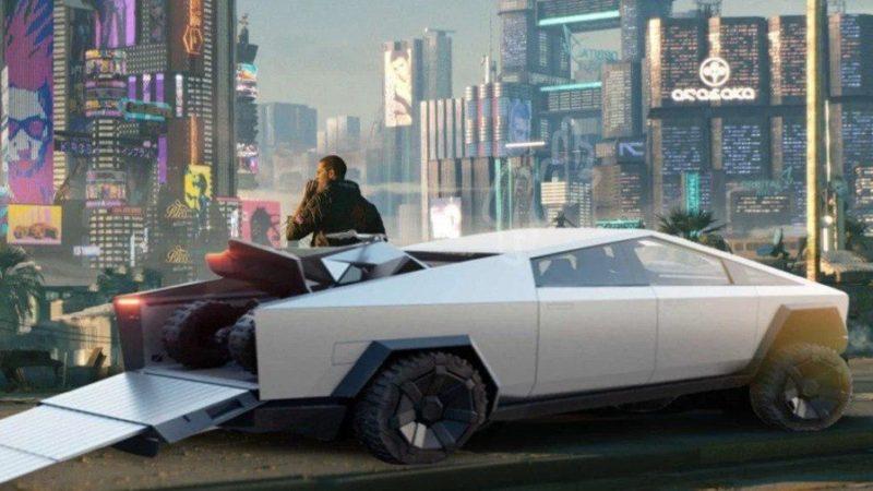 Cyberpunk 2077 and Tesla Cybertruck