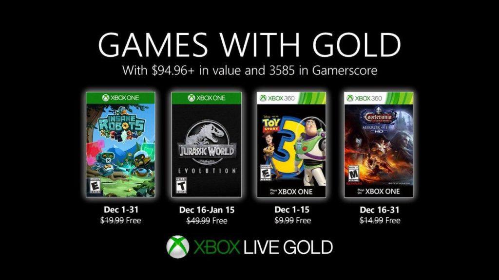 Xbox Live Gold – игры на декабрь 2019