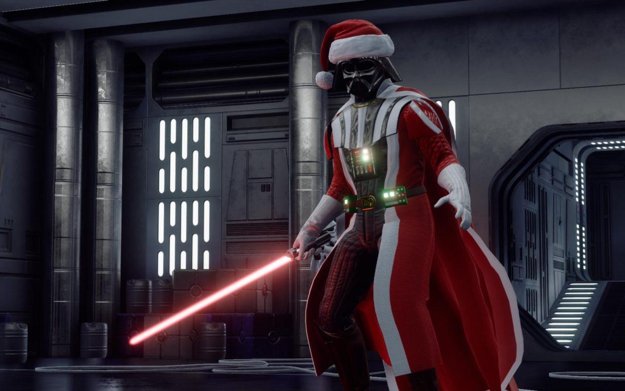 Новогодний Dath Vader в Battlefront 2