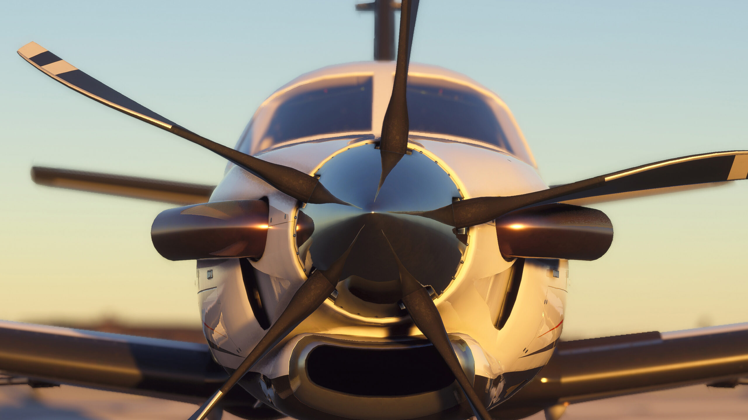 Microsoft Flight Simulator Rotor Screenshot with logo