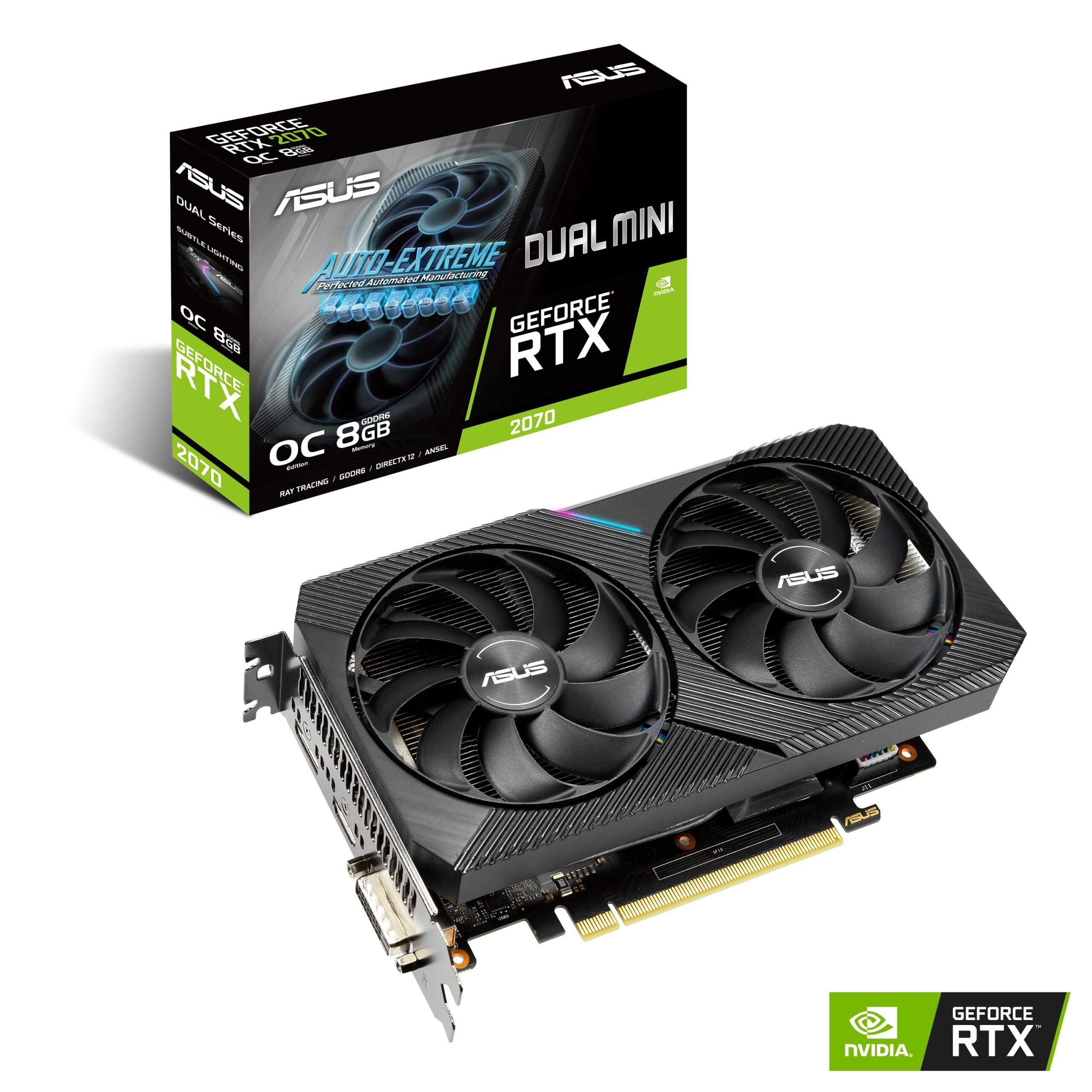 ASUS представила видеокарту Dual GeForce RTX 2070 MINI