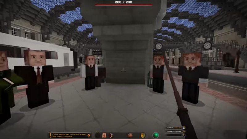 Хогвартс воссоздали в Minecraft