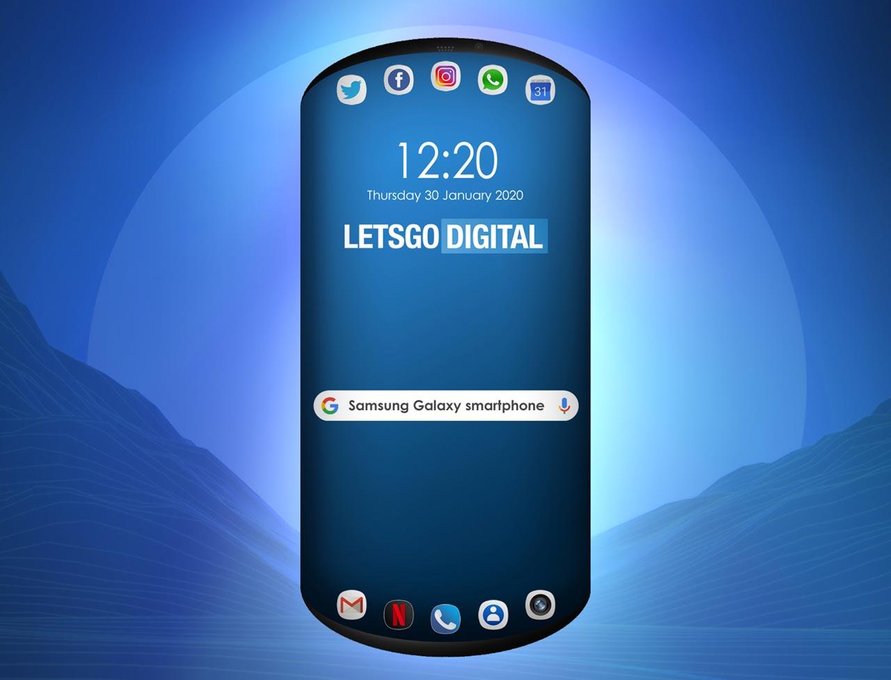 Samsung запатентовал закруглённый смартфон.