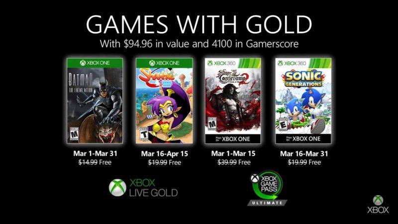 Мартовские бесплатные игры Xbox Live Gold