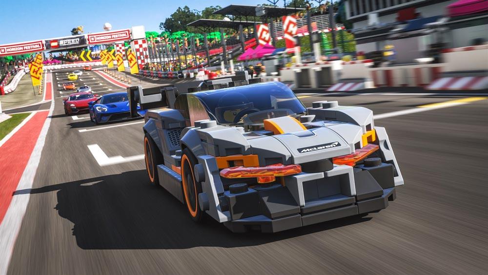 LEGO Speed Champions Bugatti Chiron появился в Forza Horizon 4