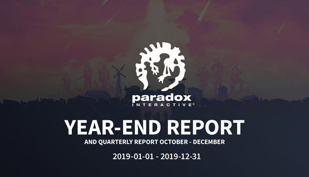 Paradox Interactive подвела итоги квартала