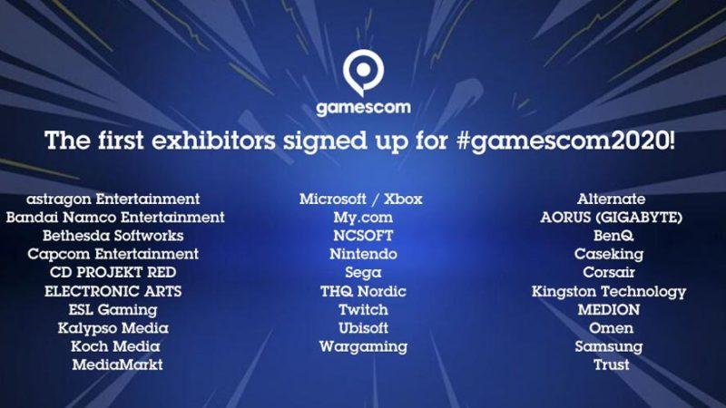 Gamescom объявила первых участников выставки