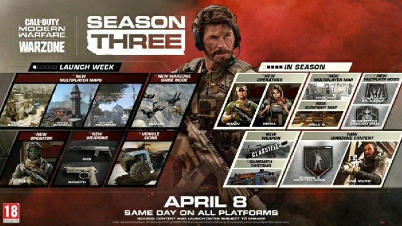 Начался третий сезон в Call of Duty: Modern Warfare