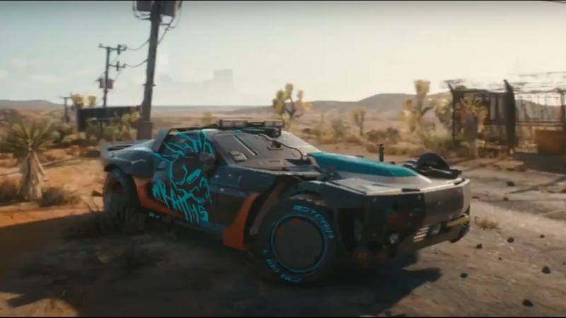 CDPR представили четырёхсекундный видеоролик с машиной в пустыне