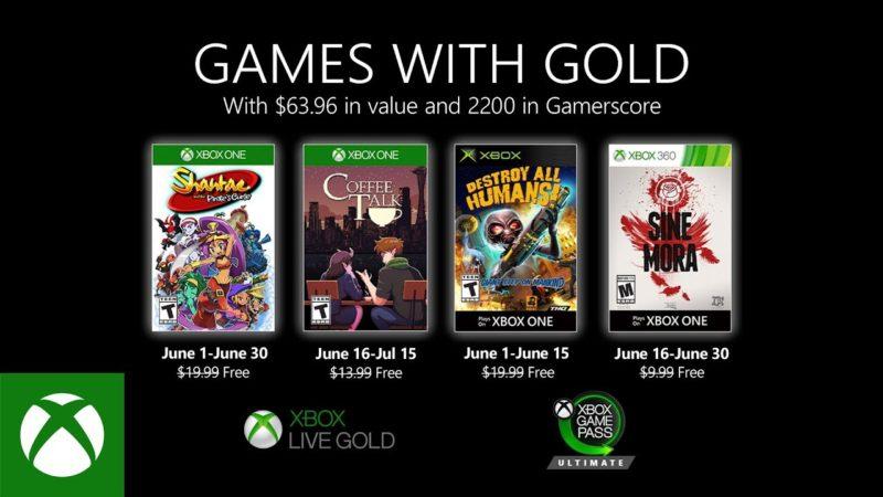 Игры Xbox Live Gold в июне