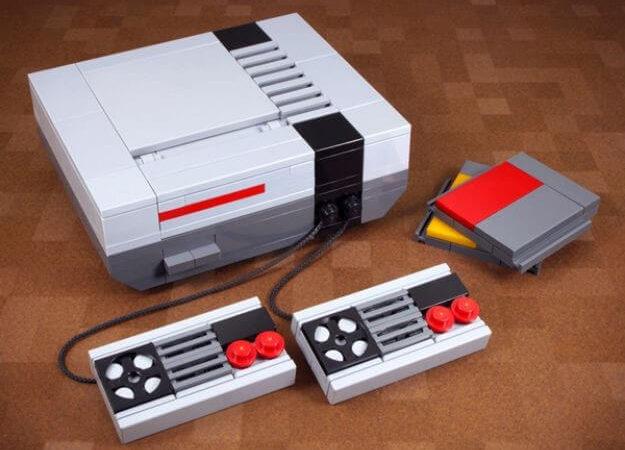 NES, собранная из кубиков Lego