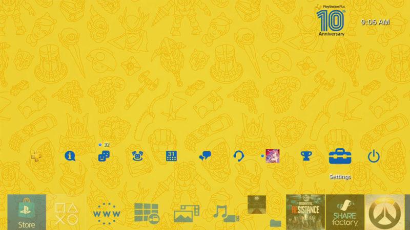 Стала доступна бесплатная юбилейная тема для PlayStation