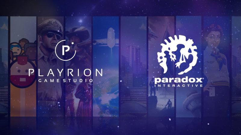 Paradox Interactive приобретает Парижскую игровую студию Playrion
