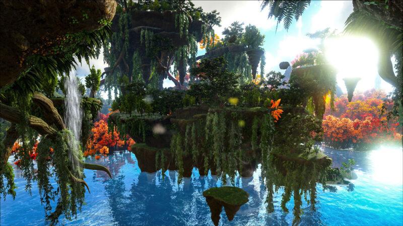 На консолях в ARK: Survival Evolved появилась новая карта Crystal Isles