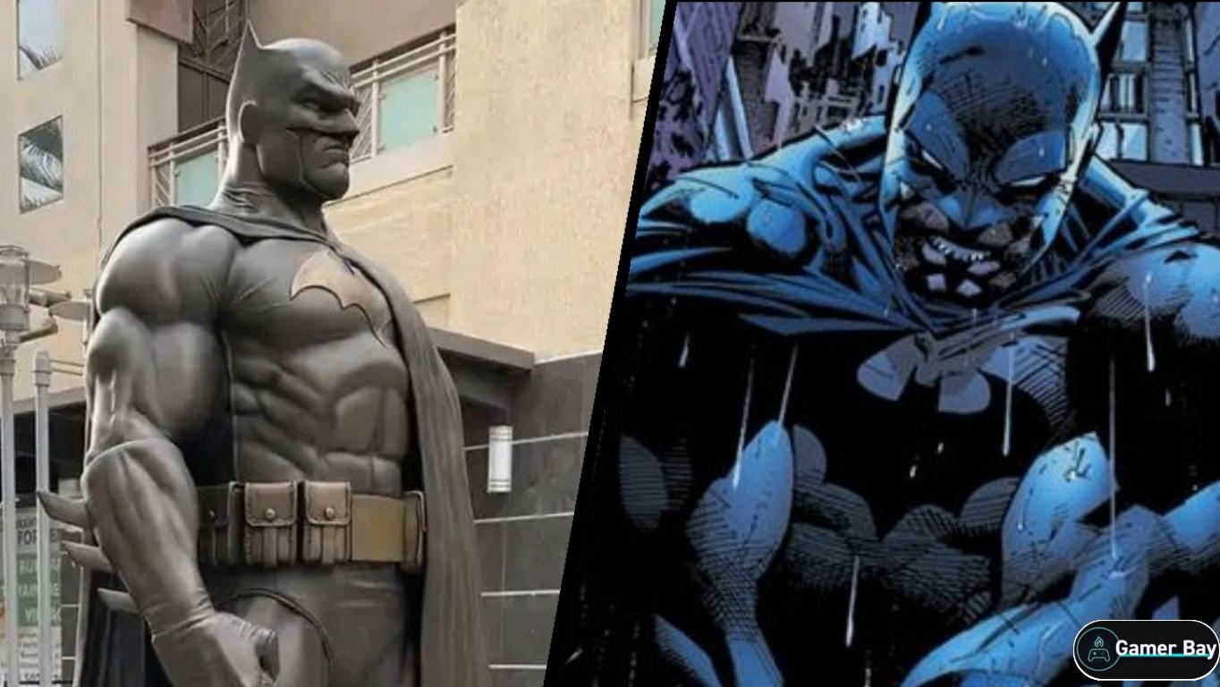 Установили новую статую Бэтмена