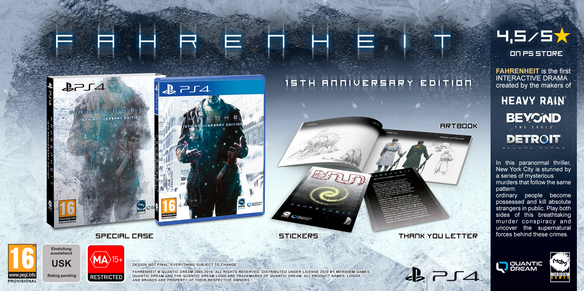 Объявлена дата выхода Fahrenheit: 15th Anniversary Edition