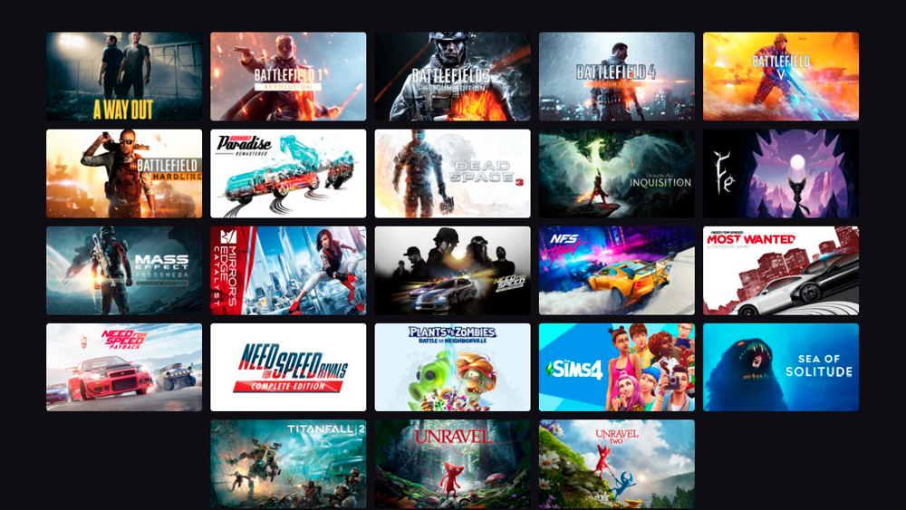 Новые игры от Electronic Arts