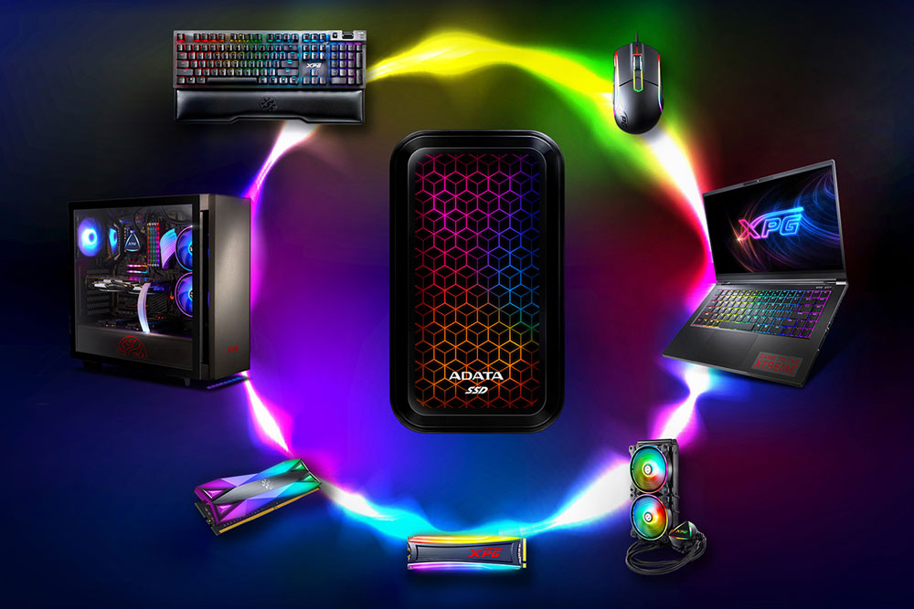 ADATA представила первый внешний SSD с RGB