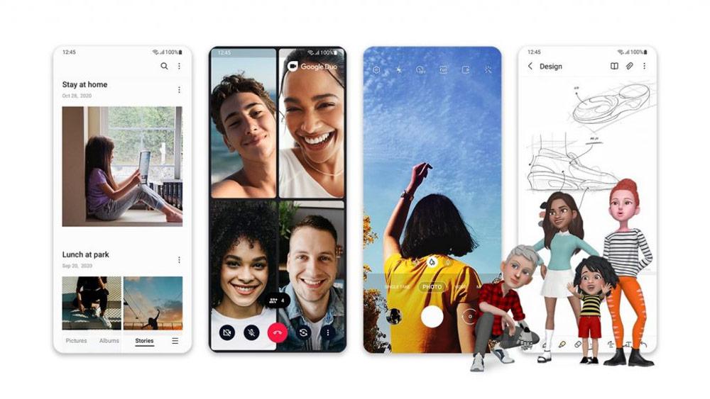 Samsung представила пользовательский интерфейс One UI 3