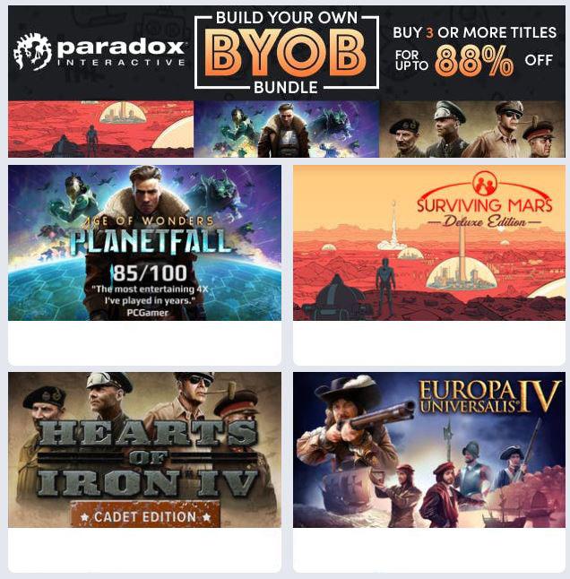 На Humble Bundle можно собрать свой набор из игр Paradox Interactive