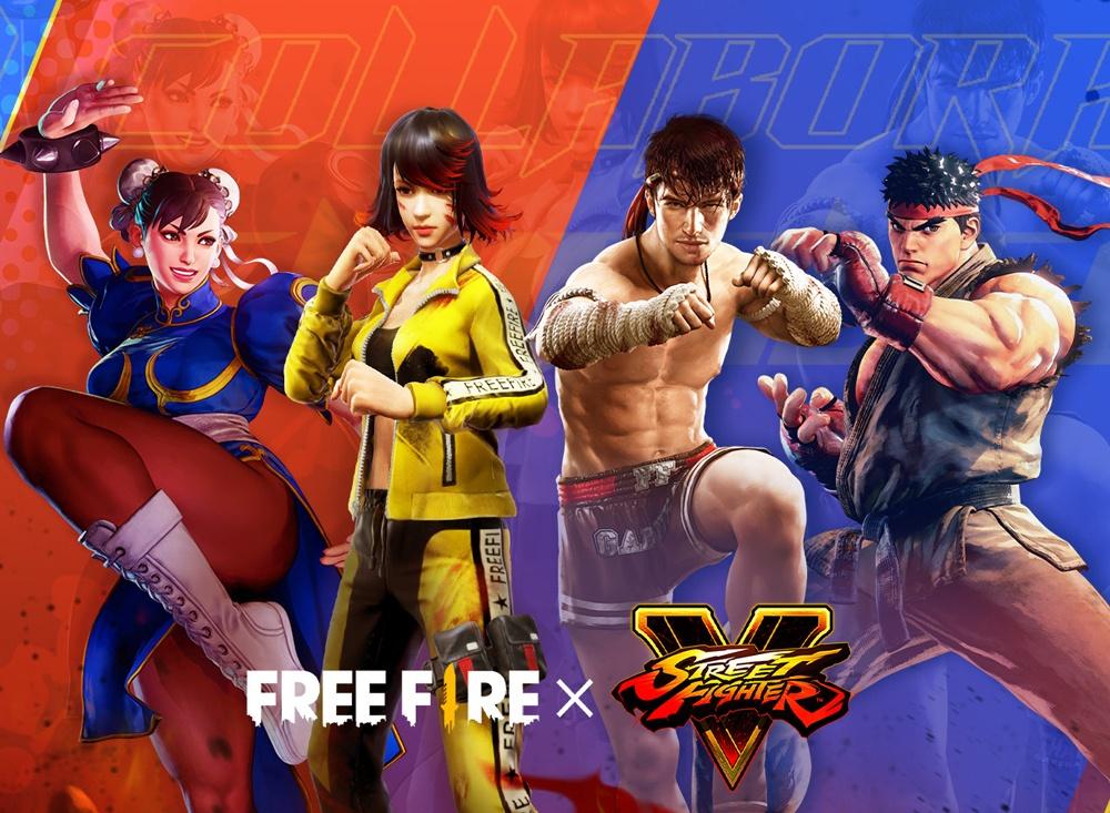 В королевской битве Free Fire легендарные персонажи из серии файтингов Street Fighter