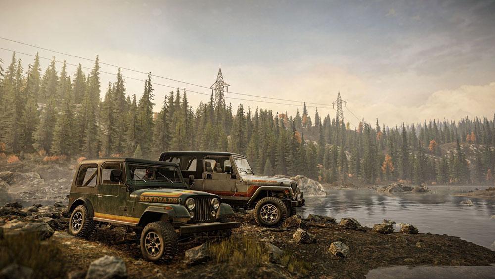 Внедорожники Jeep появились в SnowRunner